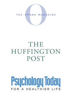 Media outlets on which Caroline Fleck, PhD has been featured including The Oprah Magazine, The Huffington Post, and Psychology Today